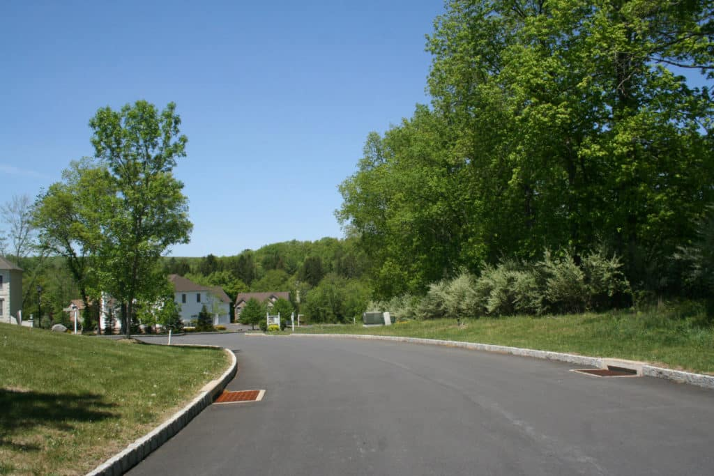 Street in new housing development Pond Creek