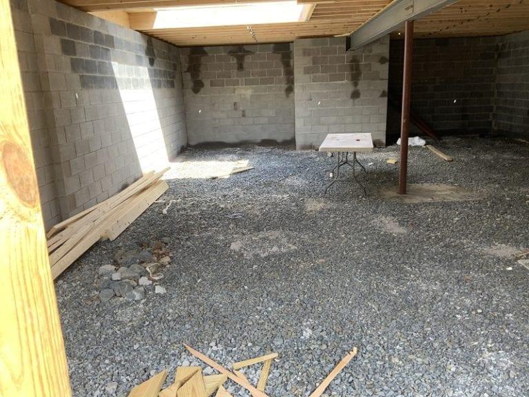 Garnet home basement