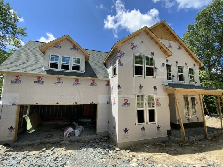 Garnet home exterior construction