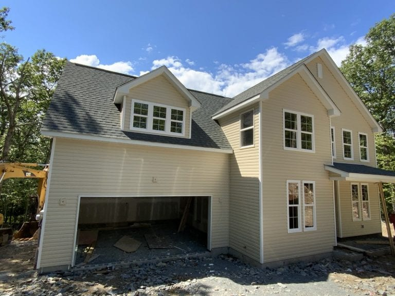 Garnet front exterior construction