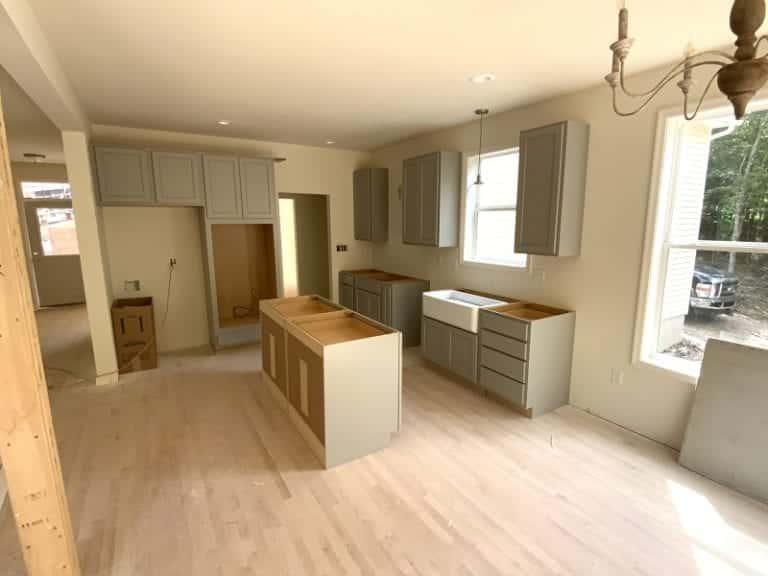 Garnet home interior construction kitchen