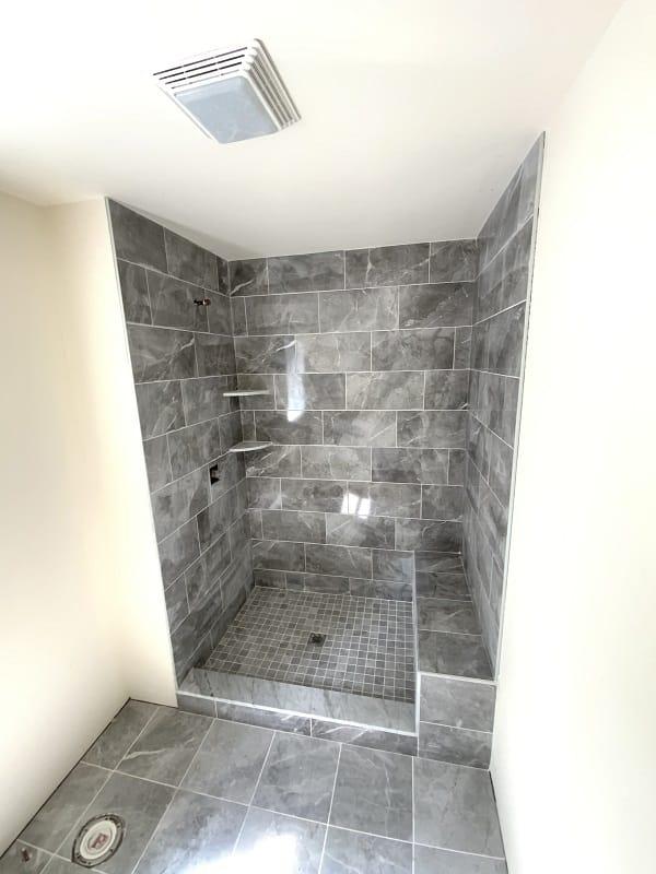 Garnet home interior construction shower