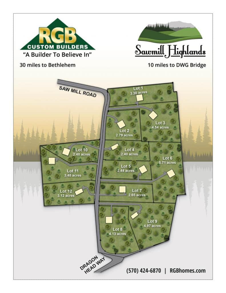 Sawmill Highlands - RGB Custom Builders - Neighborhood Map