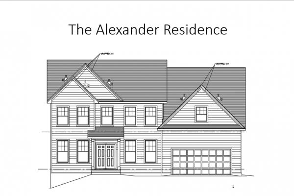 Alexander home plan rendering exterior
