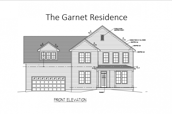Garnet exterior drawing of new home