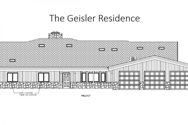 Geisler home front elevation
