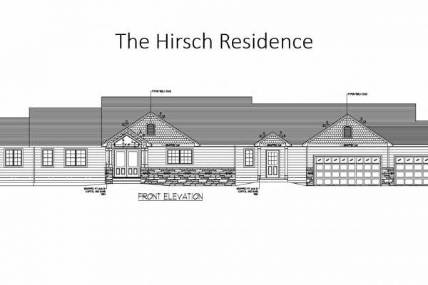 Hirsch home front elevation