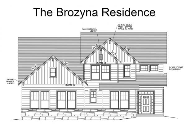 Brozyna plan front elevation