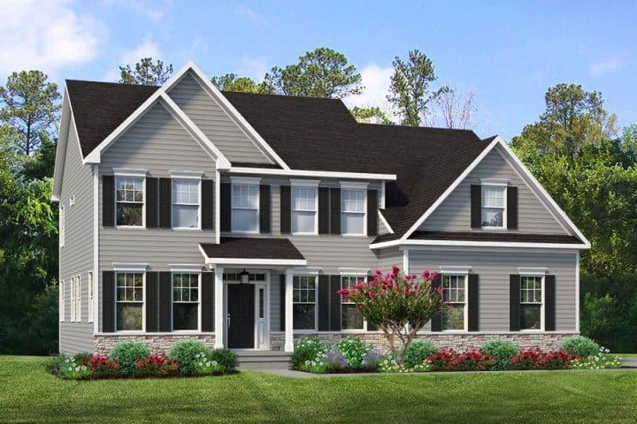Rendering of Jamison model home exterior