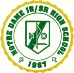 Green and yellow Notre Dame High School logo