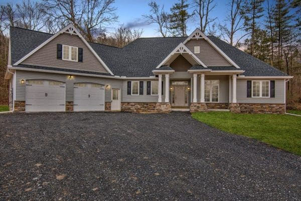 Photo of newly completed Ripley home