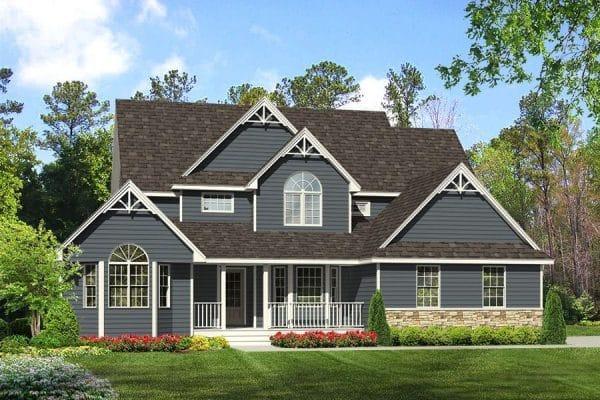 Rendering of Riverside model home exterior
