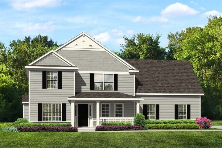 Rendering of Saratoga model home exterior