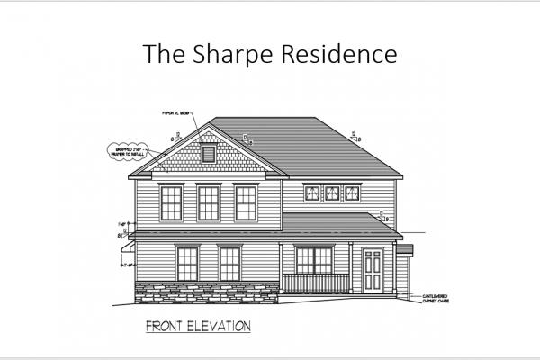 Sharpe front elevation