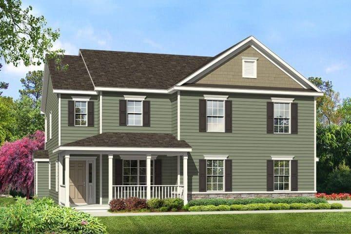 Rendering of Van Buren model home exterior