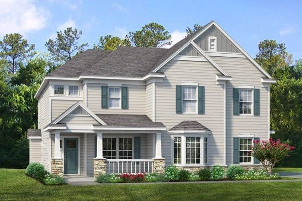 Rendering of exterior of the Van Buren model home